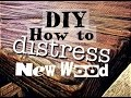 How to Distress Wood - AMAZING Results! #weathered #DIY