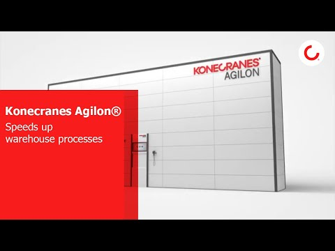 A new lift robot in the Konecranes Agilon® materials management system speeds up warehouse processes