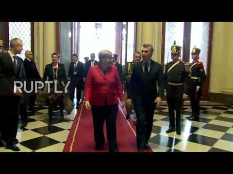 Argentina: Merkel meets Macri to talk trade and climate change
