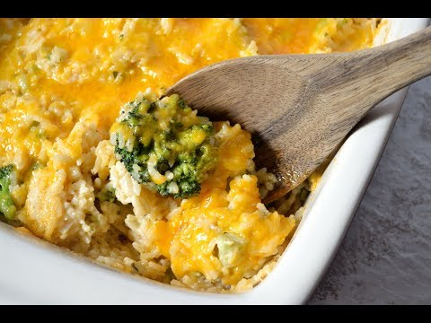 Cheesy Broccoli And Rice | How To Make Broccoli, Cheese, And Rice Casserole
