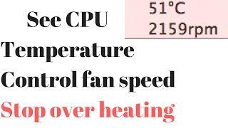 How to see mac book cpu temperature 2017