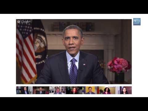 President Obama Talks on the Minimum Wage in a Google+ Hangout
