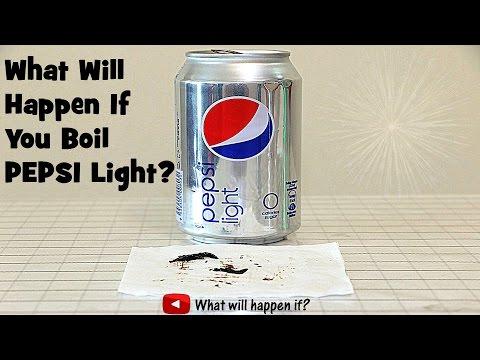 What Will Happen If You Boil Pepsi Light? (Full range)