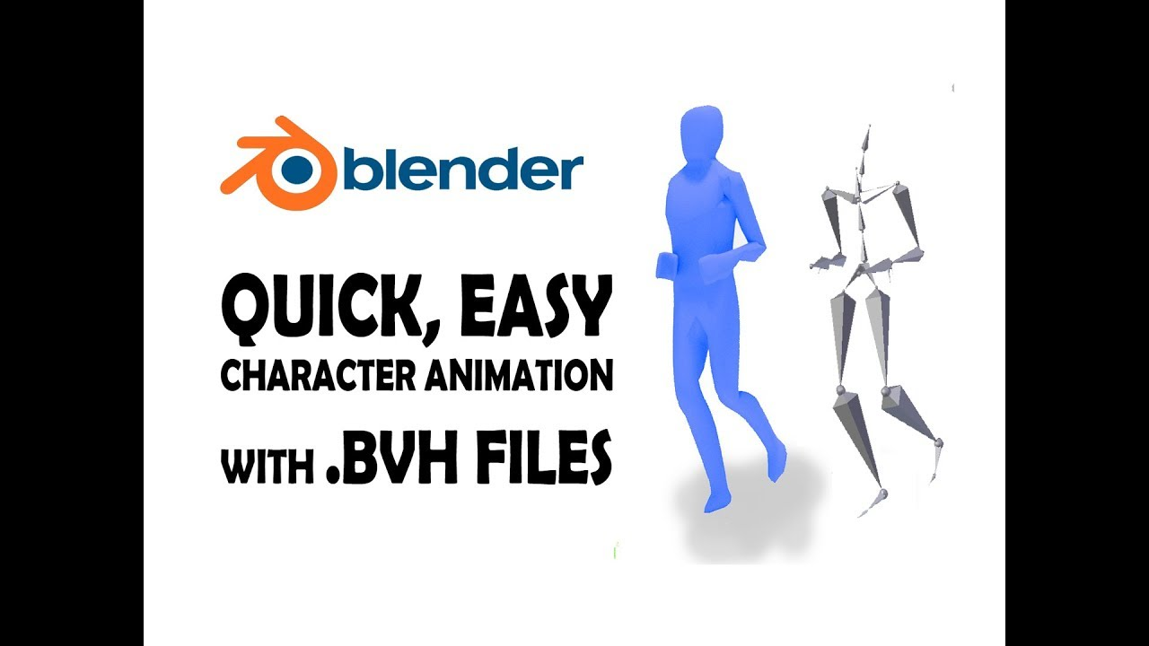Blender - quickly animate 3D character with  BVH files