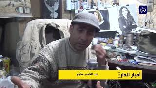 أبو الغنايم فنان يتخذ من دوار أبو طافش منصة له