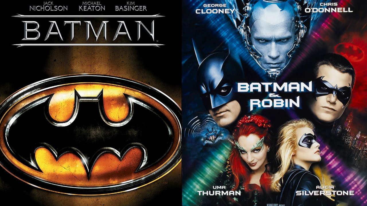 Batman 1989 Batman And Robin 1997 Ending Theme Swap Youtube