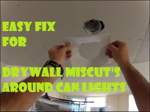 How To Repair Drywall Mistakes Around Can Lights Easy Fix