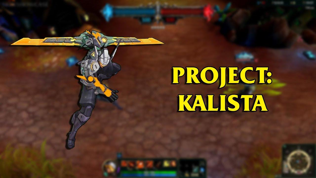 Project kalista lol custom skin showcase youtube