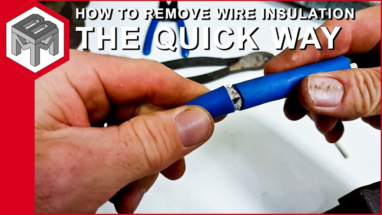 How to remove wire insulation without cutting the inner wires - YouTube