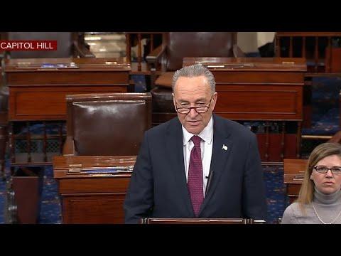 Schumer speaks on Senate floor on second day of shutdown
