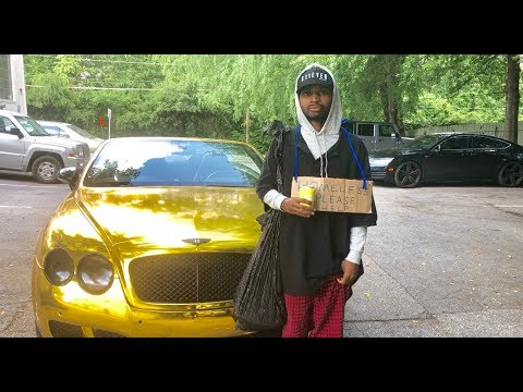 HOMELESS In GOLD BENTLEY Part 2 Social Experiment