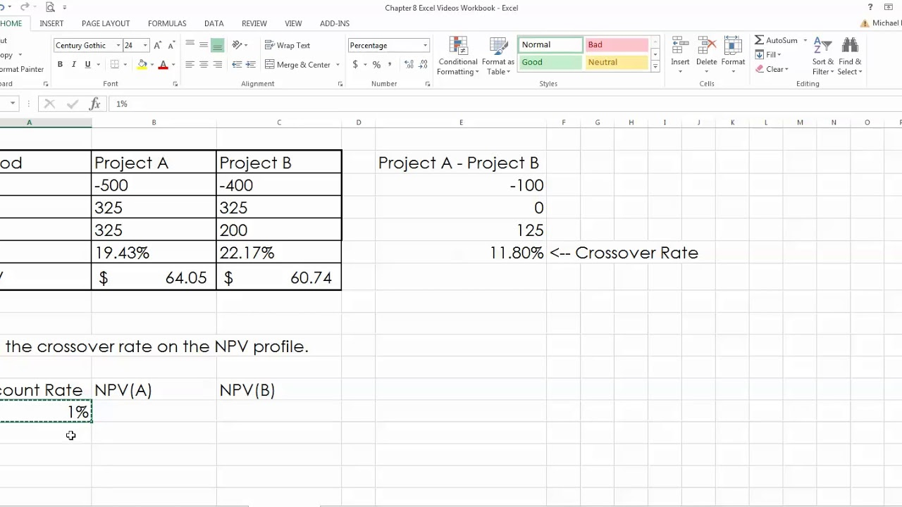 how to work out interest rate in excel