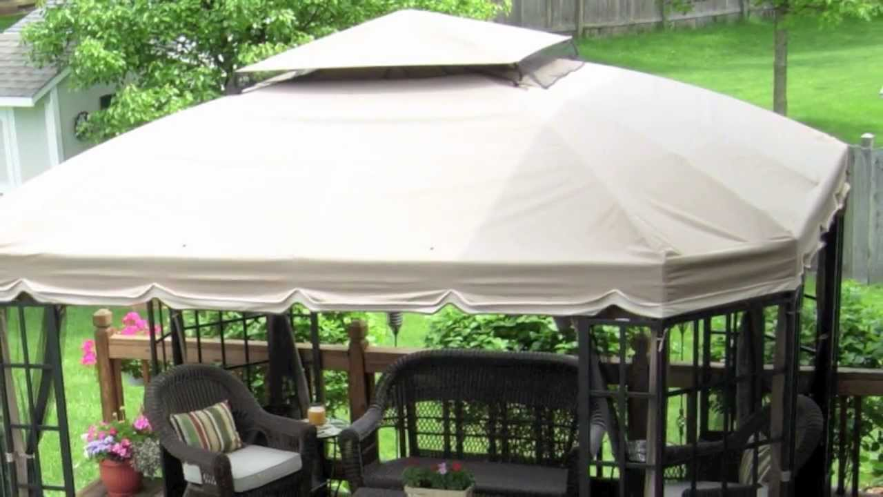 Sears/Kmart Bay Window and Target Sutton CLASSIC Gazebo Canopy - YouTube & Sears/Kmart Bay Window and Target Sutton CLASSIC Gazebo Canopy ...