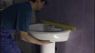 Раковина в ванной комнате установка своими руками. Обучение(, 2013-11-25T19:07:52.000Z)