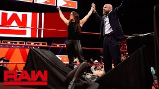 Stephanie McMahon sends Ronda Rousey crashing through a table: Raw, April 2, 2018