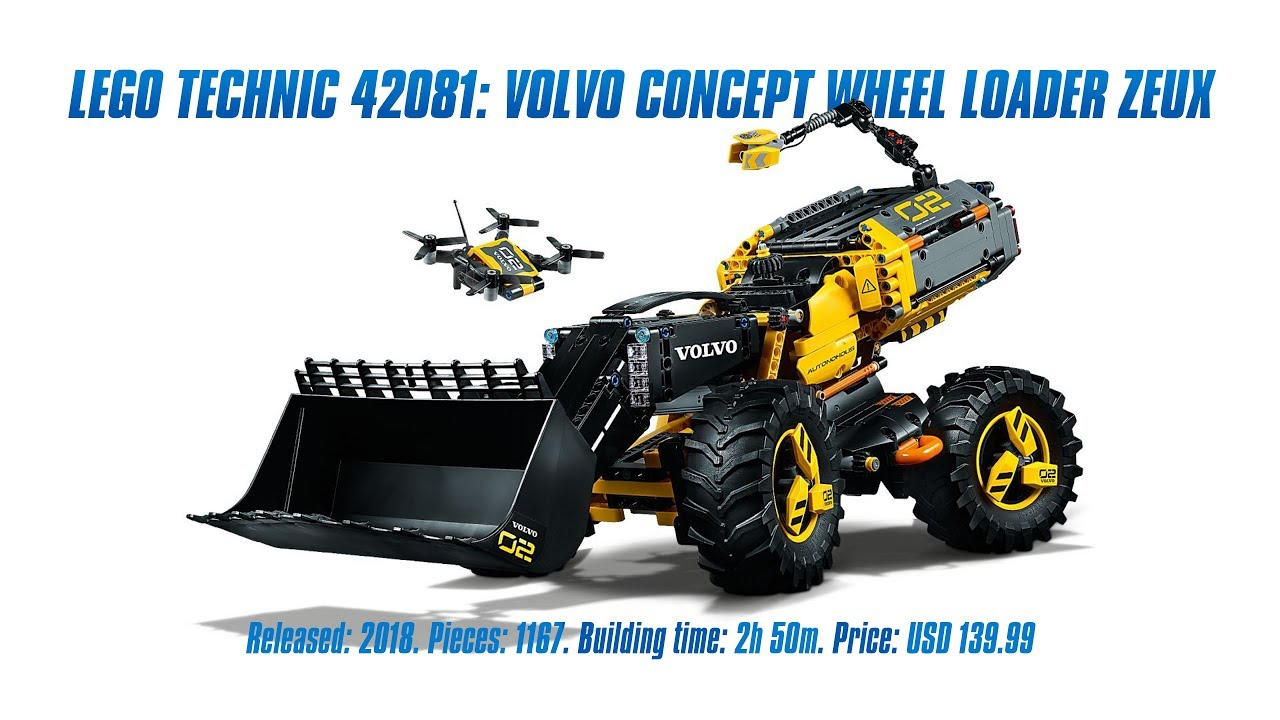 lego technic 42081 volvo concept wheel loader zeux in. Black Bedroom Furniture Sets. Home Design Ideas