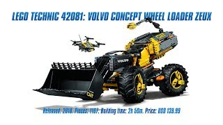 LEGO Technic 42081: Volvo Concept Wheel Loader ZEUX In-depth Review & Speed Build [4K]