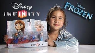 Disney Infinity FROZEN Toy Box Set - Elsa & Anna Figures, Texture Discs