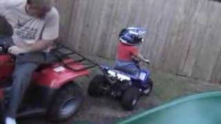Evan gets his quad stuck on the fence