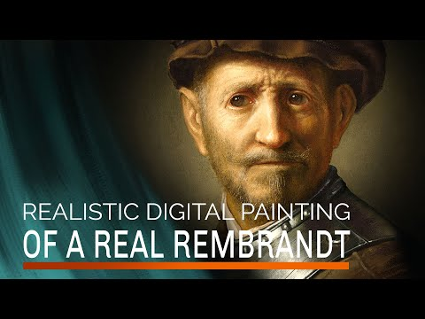Digital Painting of a real Rembrandt - Photoshop Painting with the MA-Brushes