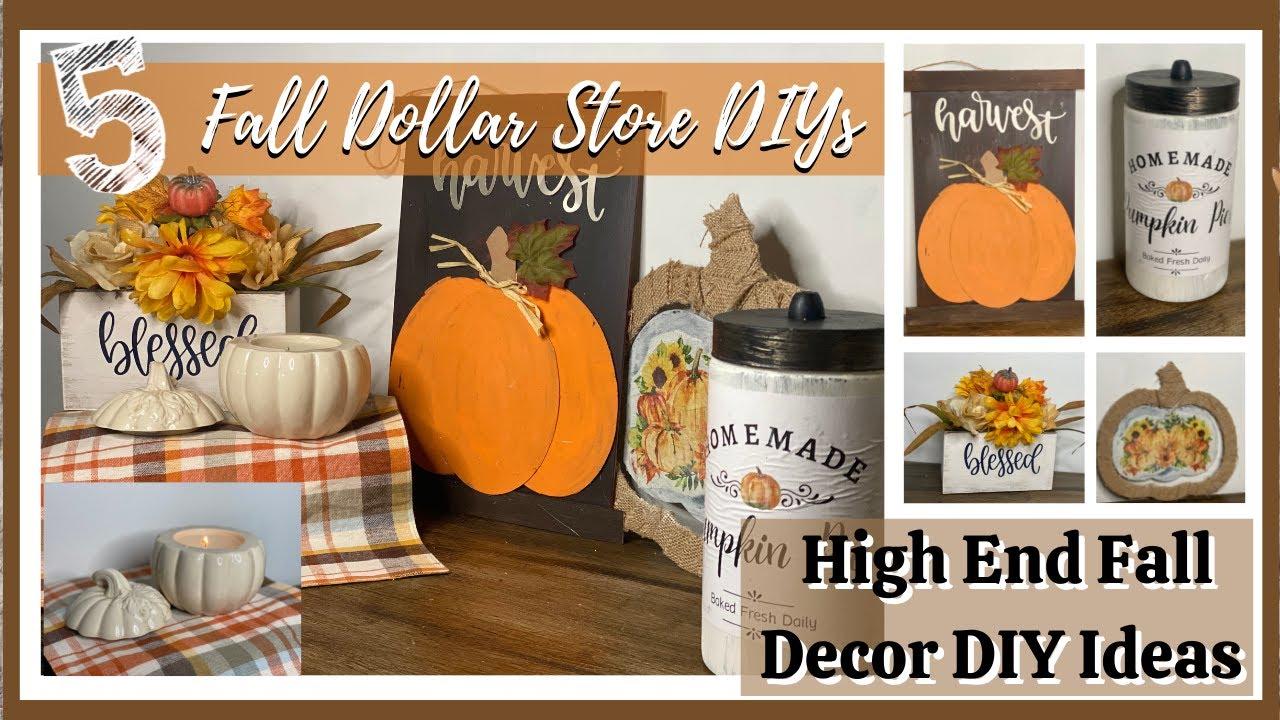 5 AMAZING High End Dollar Store Fall DIYs for 2021   DIY Dollar Store Fall Decor Ideas