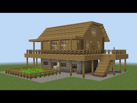 Minecraft How To Build A Farm House Youtube