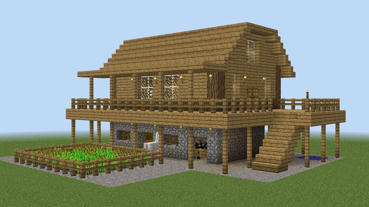 minecraft how to build a farm house youtube