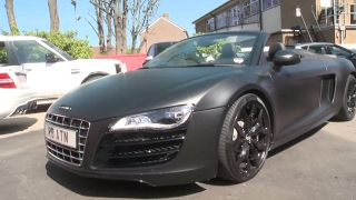Aston Merrygold - Audi R8 strip and re-wrap - Part 1