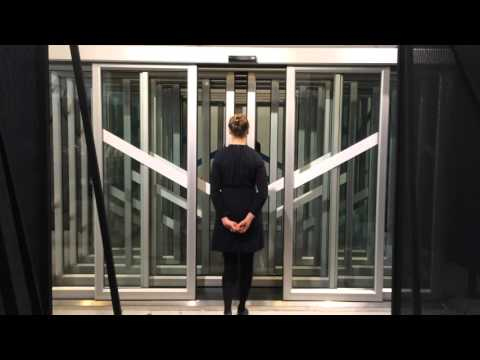 Dancing with Automatic doors at Dutch Design week