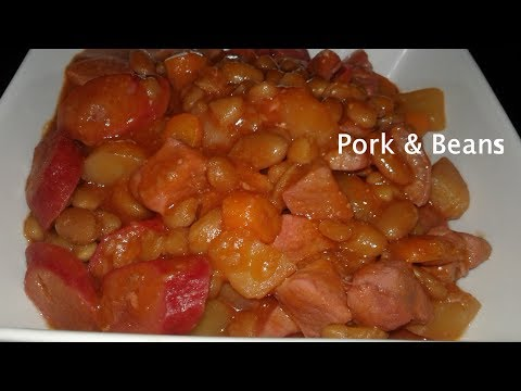 🍒PORK & BEANS With HOT DOGS, POTATOES & CARROTS