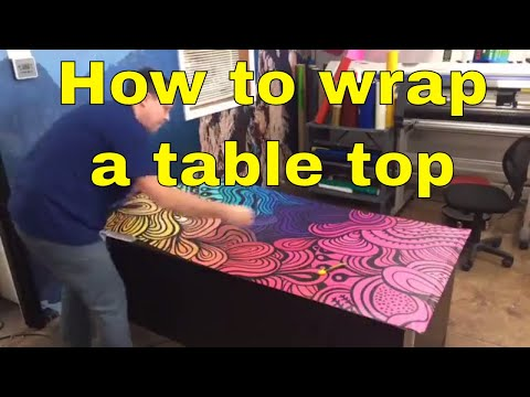 How to wrap a table top - Custom Vinyl Print -  Rm wraps com