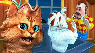 СОСЕД РЕШИЛ ОЖИВИТЬ МУМИЮ Dark Riddle 2 Story Mode как Hello Neighbor Весёлый Кот