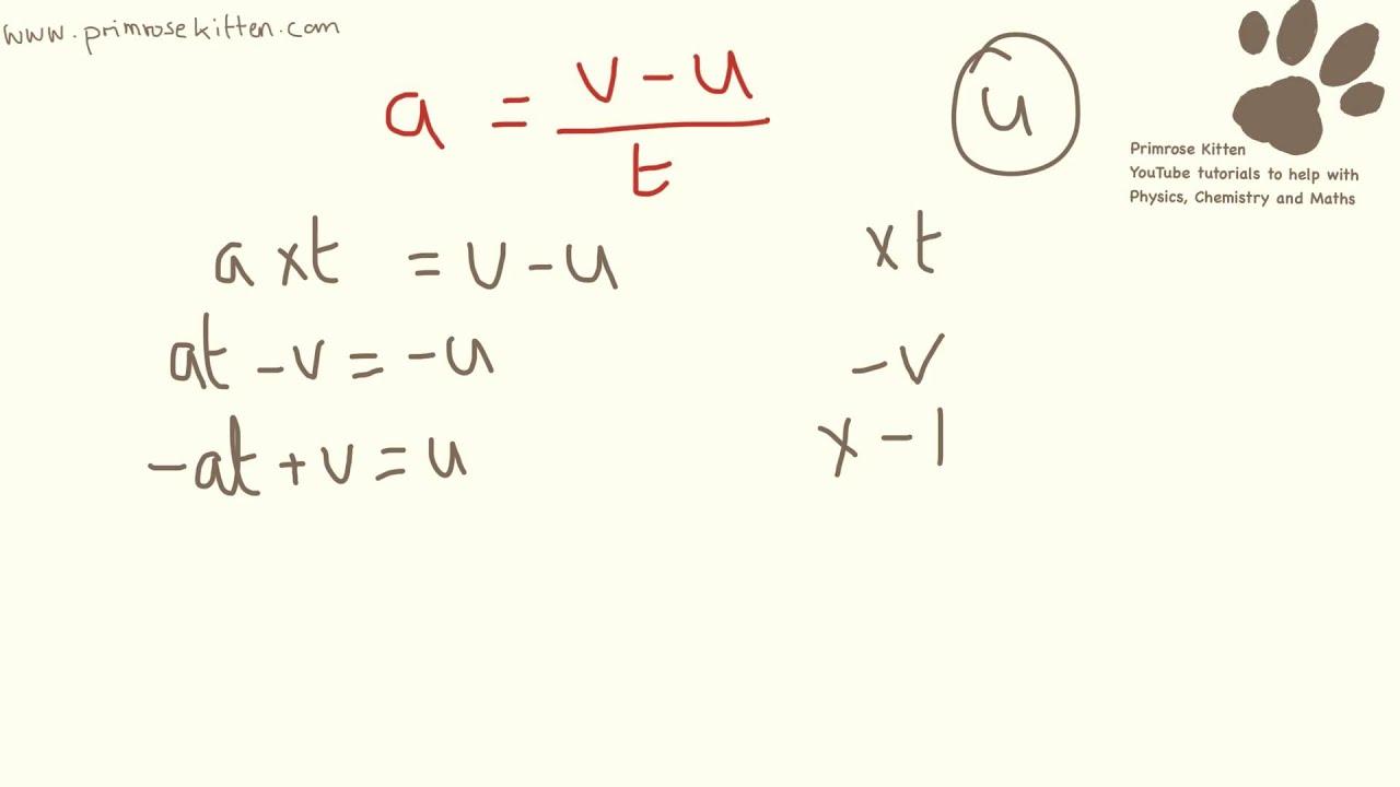 Rearranging Equations For Gcse Physics