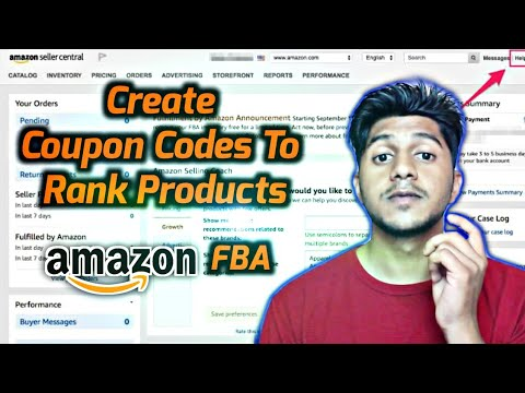How To Create Promotions/Discount Coupon Codes AMAZON FBA INDIA 2020