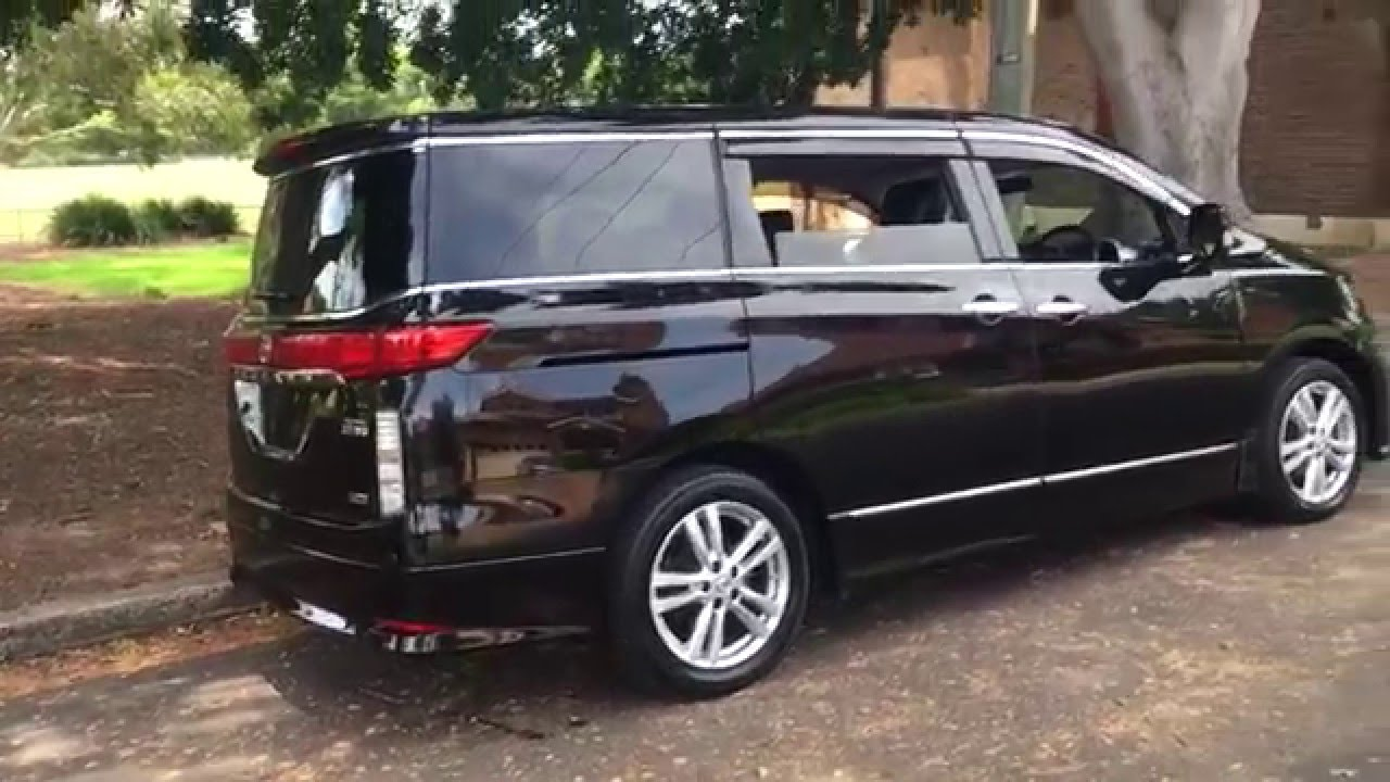 Nissan Elgrand E52 Black 8 Seater For Sale @ Edward Lees