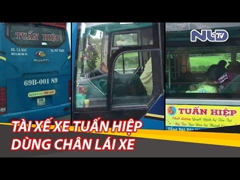 Tài xế xe khách Tuấn Hiệp dùng chân lái xe, chạy 80km/h trên cao tốc Trung Lương   NLĐTV