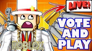 Roblox Live - Playing Games YOU Vote on and Chat - Logan Paul vs. KSI?