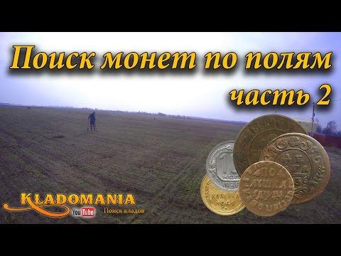 Поиск монет по полям часть 2. Интересные находки на полях. Полушка Петра 1
