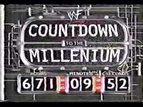 Countdown to the Millenium Clock Chris Jericho
