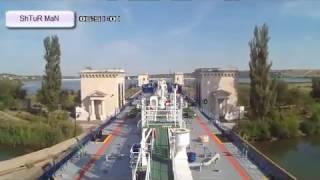 Судовождение Проход Волго Донского канала  Шлюзование  Интересное видео