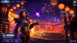 Heroes of the Storm - LI-MING Menu background