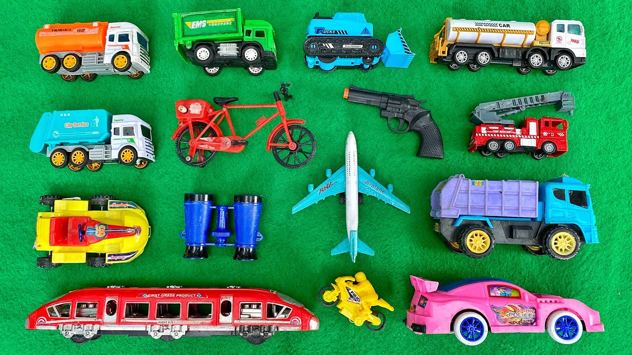 Looking for Different types of Toy Vehicles from Vegetable fields | Found Colorful Vehicles