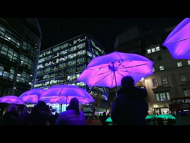 London paints in light to banish the winter blues
