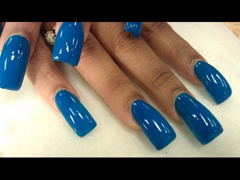 Navy Blue Long Whale Nails Part 2 of 2