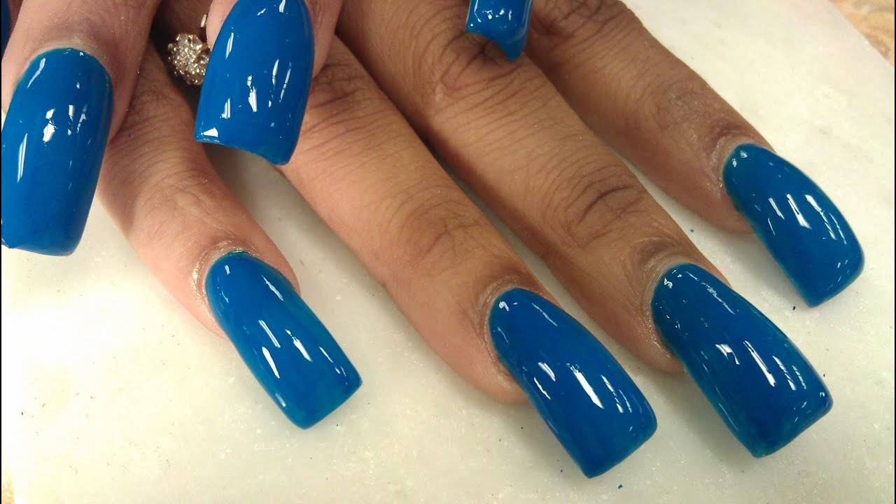 navy blue long whale nails part 2 of 2 - youtube