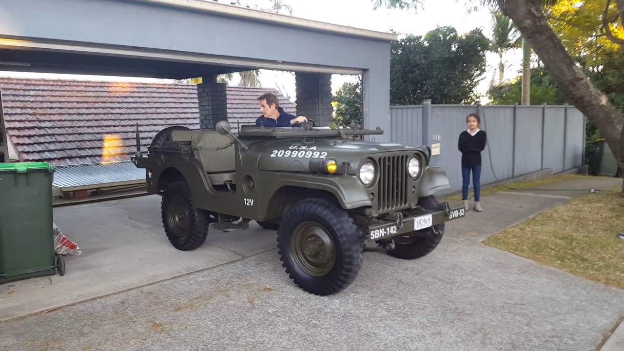 dylan 21st birthday dad takes m38a1 jeep home for a surprise [ 1280 x 720 Pixel ]