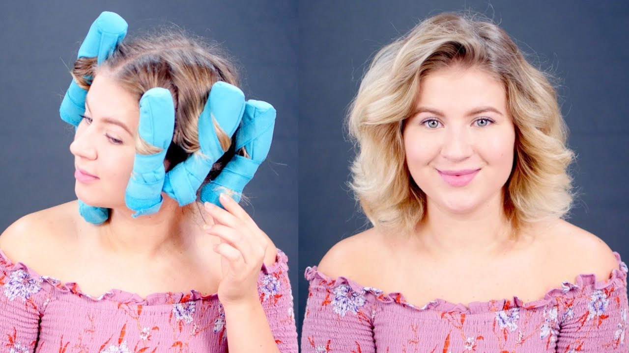 Testing Sleep Styler Heatless Curlers On Short Hair Milabu