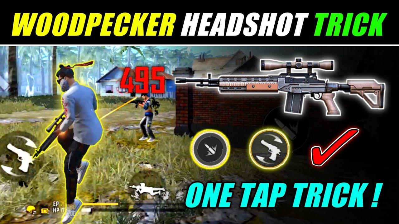 NEW ONE TAP HEADSHOT TRICK [ Woodpecker + ACBD ] 😈 Easy Headshot Trick - Free Fire |
