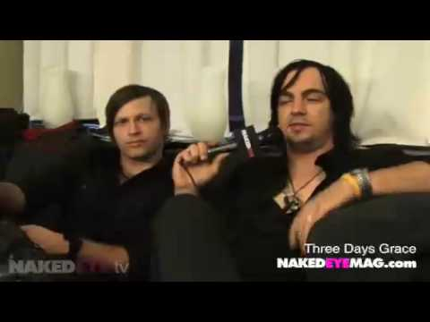 Three Days Grace x Naked Eye (Interview October 2009)