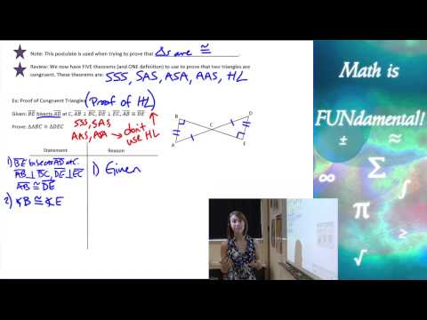4.6 Geometry - The Hypotenuse Leg Theorem